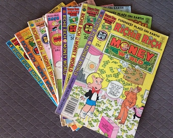 Richie Rich Vintage Magazines - set of 7