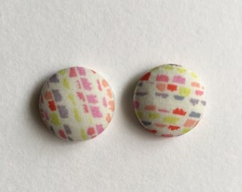 19mm Sunset Strokes Fabric Studs