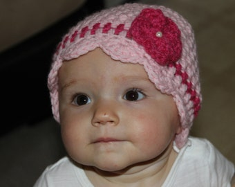 Baby Flower Hat With Pearl
