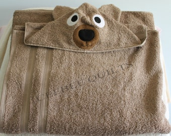 Bear Hooded Bath Towel