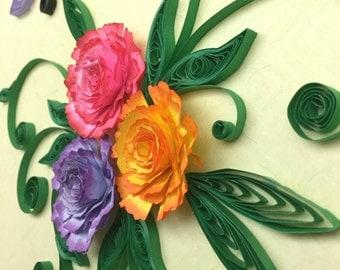 Carnations in 8x8 shadow box
