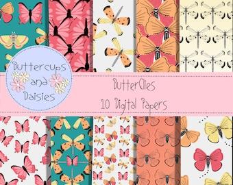 Butterflies Digtal Paper