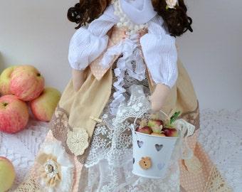 Apple fairy. Tilda hostess Doll kitchen Assistant.
