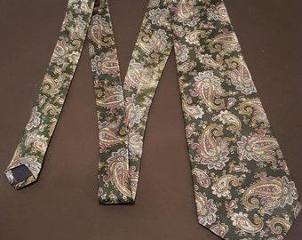 Vintage Mayfair Silks handmade Paisley Tie