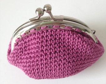 Wallet is hand crochet