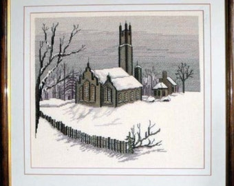 Country Church in a Winter Morning