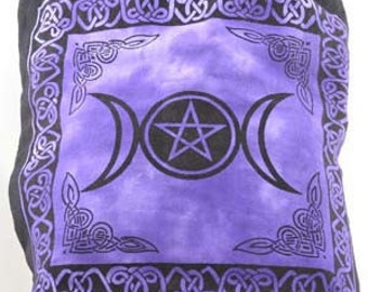 Wicca Triple Moon Back Pack