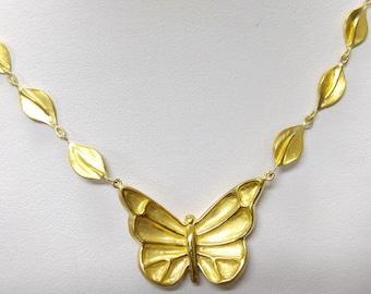 22k Gold Butterfly Necklace