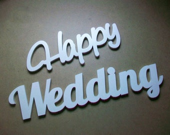 Wedding sign Wedding letters Wooden letters Wedding decoration Happy wedding Wooden sign Wedding gift Table wedding sign Sign for wedding