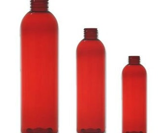 Red Bottle with Mister or Lotion Pump 4/8oz empty Pack of 10