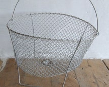 Collapsible Aluminium Wire Basket//Salad Spinner//Egg Basket//Wire Basket//Aluminium wire basket//Wire egg basket