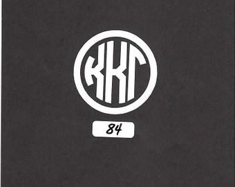 Initials Monogram - 84