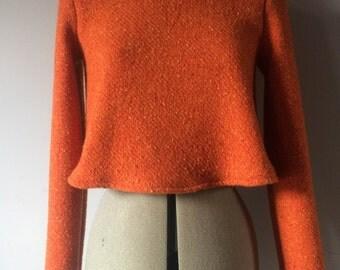 Woollen orange cropped jumper