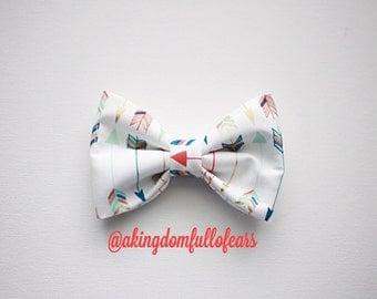 Arrow Print Bow // Fabric Bow