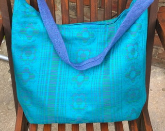 Turquoise print Handbag/Shoulder bag