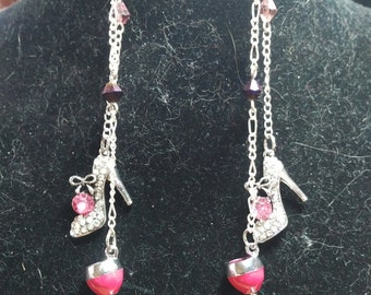 Dangling fashion earrings