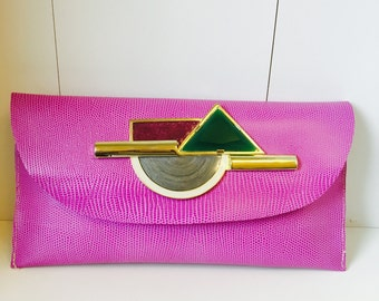 Purple Phoebe clutch