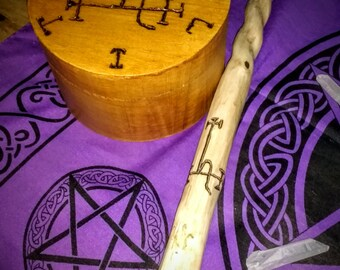 Lilith Ritual Set - Wand and Offering Box. ### REDUCED ###