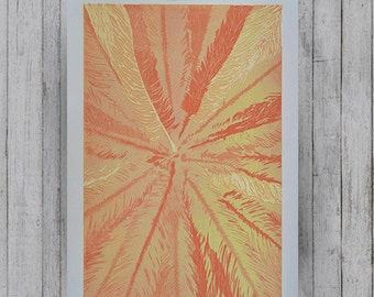 Palm Tree Woodblock
