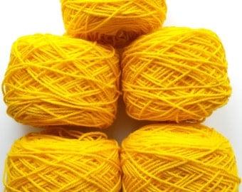 Yellow yarn, crochet yarn, knitting yarn, acrylic yarn, synthetic yarn, yarn lot, cheap yarn, medium yarn, worsted yarn, afghan yarn, aran