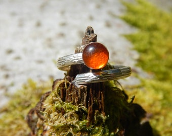 Ring amber & 925 Silver