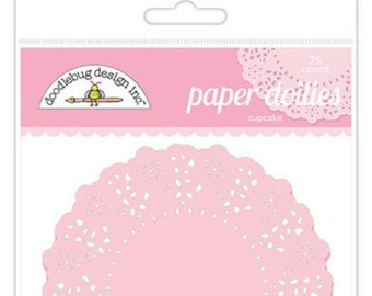 Pink Paper Doilies 75 count each