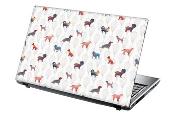 TaylorHe Laptop Skin Sticker Watercolour Dogs