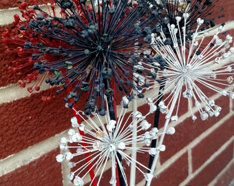 Red, White & Blue Fireworks Dried Flower Arrangement - Large Alliums