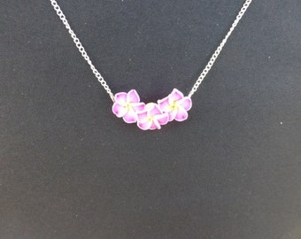 Pretty Pink Flower Necklace