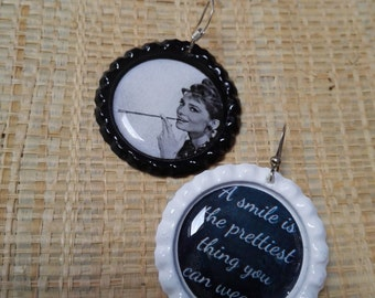 help earthquake Italy earrings Audrey hepburn