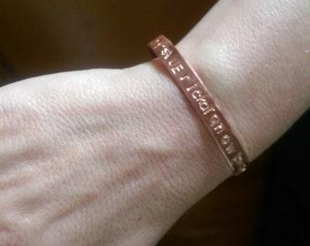 Hand Stamped Copper Bracelet