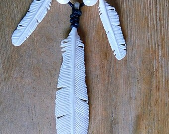 bone feathers necklace