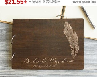 SALE! Wedding Guest Book Feather, Guestbook Wedding, Wedding Guestbook, Guest Book, Guestbook, Personalized Wedding Gift, Custom Guest Book