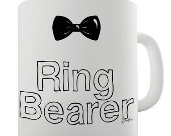 Ring Bearer Bowtie Ceramic Novelty Gift Mug
