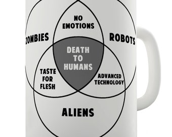 Zombie Venn Diagram Ceramic Novelty Gift Mug