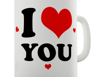 I Love You Hearts Ceramic Mug