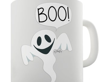 Friendly Ghost Boo Ceramic Mug