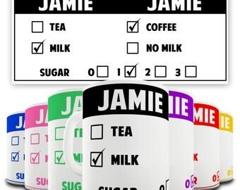Personalised Colourful Drink Order Ceramic Funny Mug