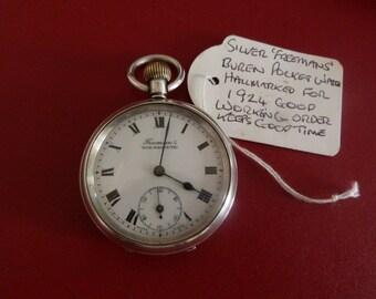 hallmarked silver pocket watch