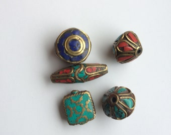 Nepalese brass beads