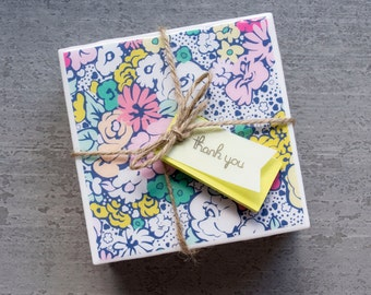 Custom Ceramic Coasters (set of 4)