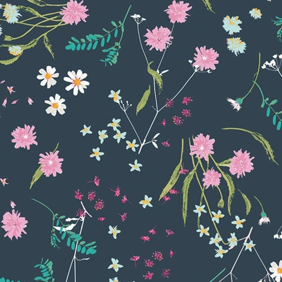 Blossom Swale Depth in VOILE || Lavish Collection by Katarina Rochelle for Art Gallery Fabrics || Half or One Yard || COTTON VOILE