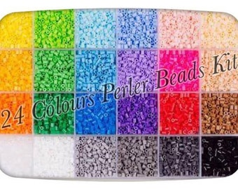 24 Colors Perler Beads 2.6mm Kit