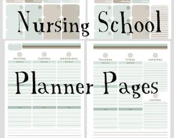 Nursing School Planner Monthly/Weekly Printable
