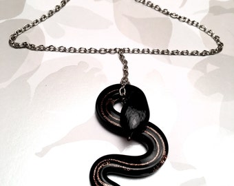 Serpent Pendant Necklace