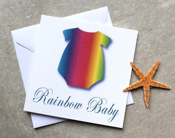 Rainbow Baby. A card to celebrate the arrival of a new rainbow.