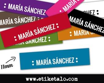 25 custom labels sewing | Satin | 11mm | Cut | Ref: YB03