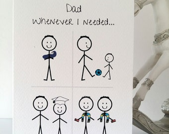 Happy Birthday Dad from Son Card, dad, daddy, father, birthday, son, love, handmade, ireland
