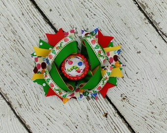 Hungry Caterpillar Hair Bow