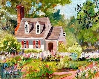 Williamsburg Garden - Taliaferro/Cole Kitchen - 11x14 Signed Print